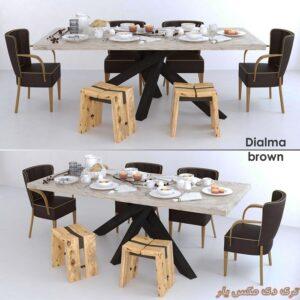 دانلود آبجکت میز و صندلی شماره 2