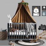 آبجکت تخت خواب کودک شماره 3