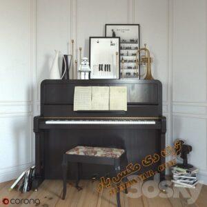 آبجکت سه بعدی پیانو