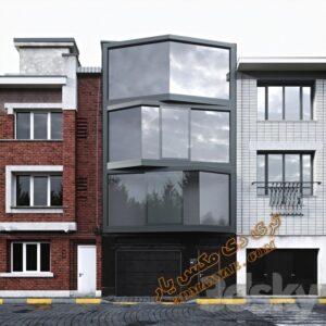 دانلود پروژه آماده نمای ساختمان برای تری دی مکس شماره 2