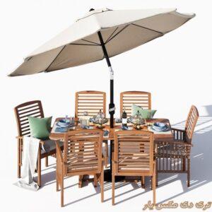 دانلود آبجکت میز و صندلی شماره 1