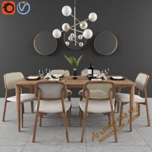آبجکت میز و صندلی شماره 3