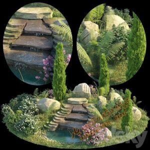 آبجکت گل و گیاهان طبیعی شماره 2
