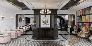 پروژه آماده طراحی فضای لابی هتل برای تری دی مکس شماره 1