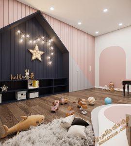 پروژه آماده اتاق کودک برای تری دی مکس شماره 6