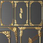 آبجکت گچبری و تزئینات کلاسیک برای تری دی مکس شماره 21