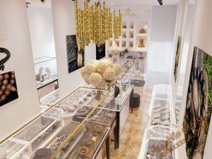 پروژه آماده فروشگاه طلا و زیور آلات برای تری دی مکس شماره 1