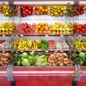 آبجکت آماده یخچال میوه و سبزیجات برای تری دی مکس شماره 1