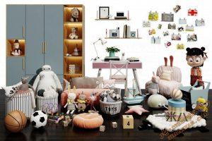 مجموعه آبجکت های آماده  و زیبای عروسک برای تری دی مکس شماره 9