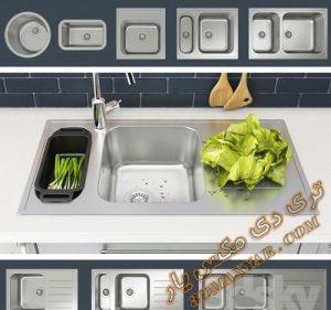 مجموعه آبجکت های آماده سینک ظرفشویی شماره 6