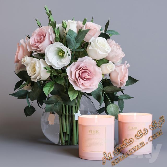 آبجکت آماده گلدان برای تری دی مکس- 3dmaxyar.com