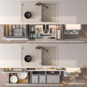 آبجکت آماده مجموعه اکسسوری های آشپزخانه برای تری دی مکس شماره 7