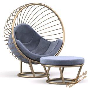 دانلود آبجکت آماده صندلی راحتی برای تری دی مکس شماره 20