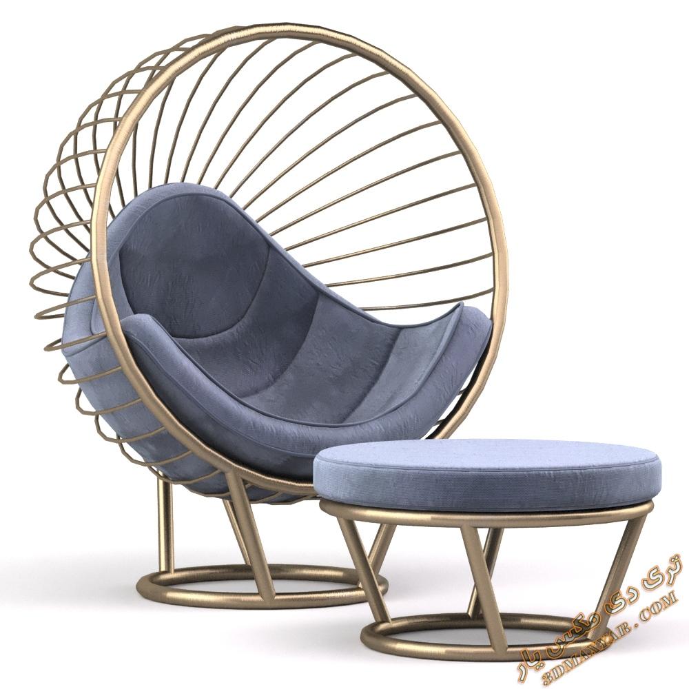 دانلود آبجکت صندلی راحتی برای تری دی مکس -3dmaxyar.com
