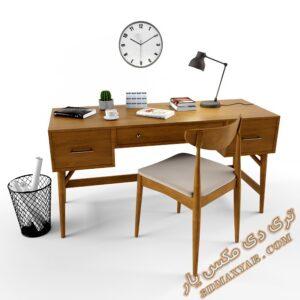دانلود آبجکت میز و صندلی اداری برای تری دی مکس شماره 16