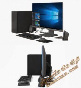 آبجکت LCD و کیس و ماوس و صفحه کلید کامپیوتر برای تری دی مکس شماره 6