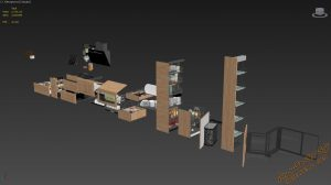 آبجکت اکسسوری آشپزخانه برای تری دی مکس شماره 16
