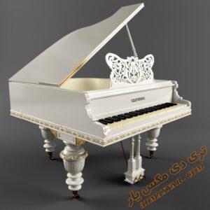 آبجکت آلات موسیقی (پیانو) برای تری دی مکس شماره 11