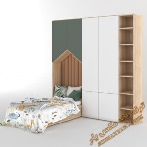 دانلود آبجکت لوازم کودک (تخت خواب و کمد )برای تری دی مکس شماره 9