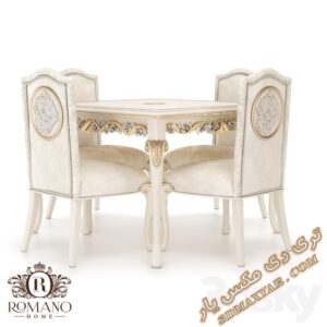 دانلود آبجکت آماده میز و صندلی برای تری دی مکس شماره 16