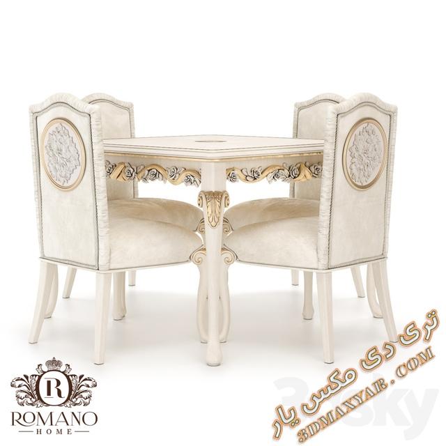 دانلود آبجکت میز و صندلی برای تری دی مکس - 3dmaxyar.com
