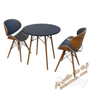 دانلود آبجکت آماده میز و صندلی برای تری دی مکس شماره 12
