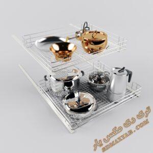 دانلود آبجکت اکسسوری آشپزخانه برای تری دی مکس شماره 10