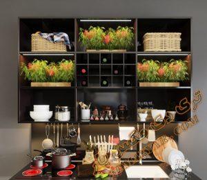آبجکت اکسسوری آشپزخانه برای تری دی مکس شماره 13