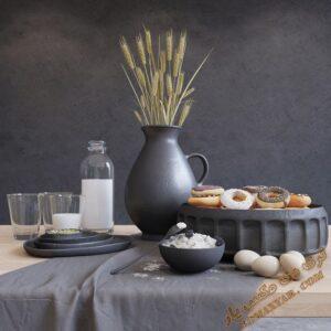 آبجکت ظروف آشپزخانه و مواد غذایی برای تری دی مکس شماره 19