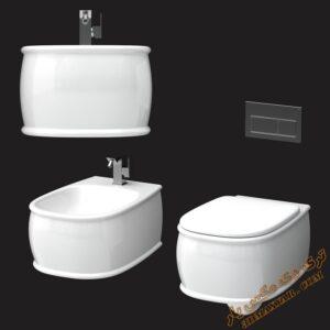 آبجکت توالت فرنگی برای تری دی مکس شماره 9