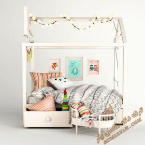 آبجکت تخت خواب کودک برای تری دی مکس شماره 21