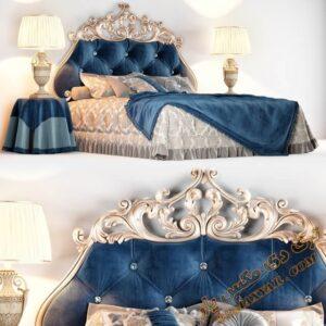 آبجکت آماده تخت خواب کلاسیک برای تری دی مکس شماره 42