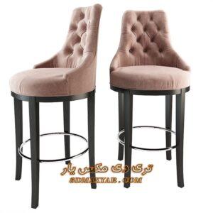 آبجکت تجهیزات بار (صندلی پایه بلند) برای تری دی مکس شماره 24