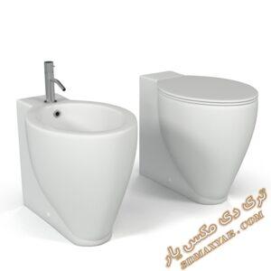 آبجکت توالت فرنگی برای تری دی مکس شماره 7