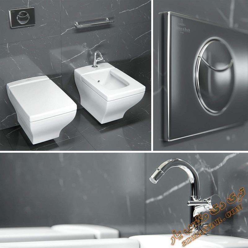 آبجکت توالت فرنگی برای تری دی مکس -3dmaxyar.com