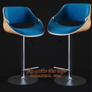 آبجکت تجهیزات بار (صندلی پایه بلند) برای تری دی مکس شماره 30