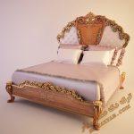 آبجکت آماده تخت خواب کلاسیک برای تری دی مکس شماره 39