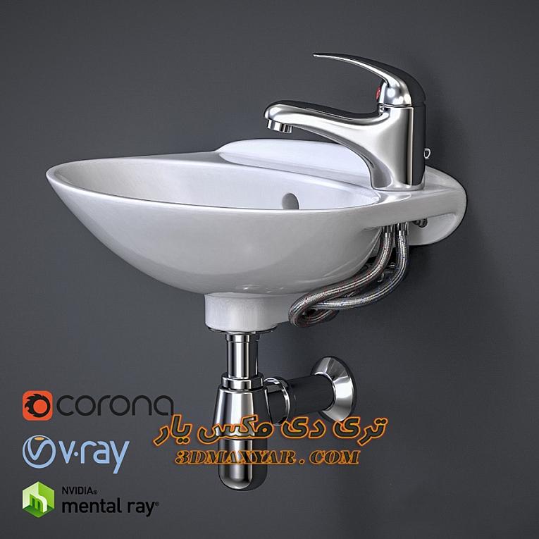 آبجکت شیرآلات حمام و سرویس بهداشتی برای تری دی مکس- 3dmaxyar.com