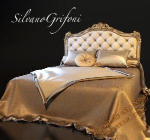 آبجکت آماده تخت خواب کلاسیک برای تری دی مکس شماره 50