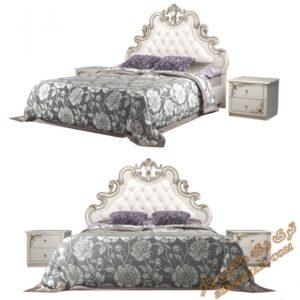 آبجکت آماده تخت خواب کلاسیک برای تری دی مکس شماره 47
