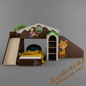 دانلود آبجکت تخت خواب کودک برای تری دی مکس شماره 14