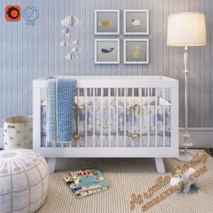 آبجکت تخت خواب کودک برای تری دی مکس شماره 16