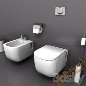 آبجکت توالت فرنگی برای تری دی مکس شماره 11