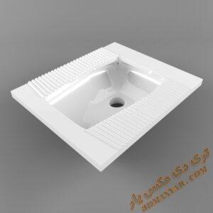 دانلود آبجکت توالت شرقی برای تری دی مکس شماره 13