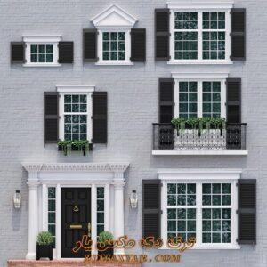 آبجکت درب و پنجره برای تری دی مکس شماره 1