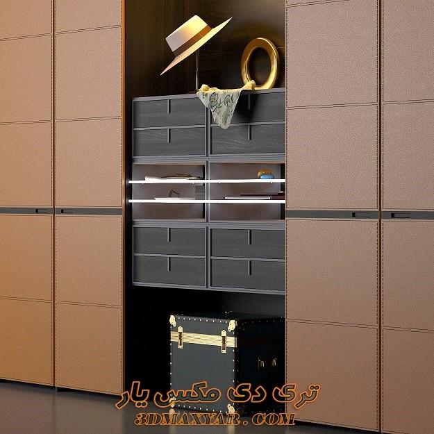 آبجکت کمد لباس برای تری دی مکس - 3dmaxyar.com