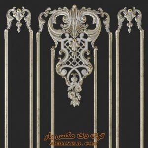 آبجکت گچبری و تزئینات کلاسیک برای تری دی مکس شماره 34