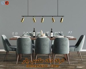 آبجکت میز و صندلی برای تری دی مکس شماره 17