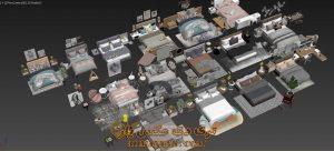 مجموعه آبجکت های تخت خواب برای تری دی مکس شماره 52