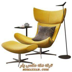 آبجکت صندلی راحتی برای تری دی مکس شماره 31
